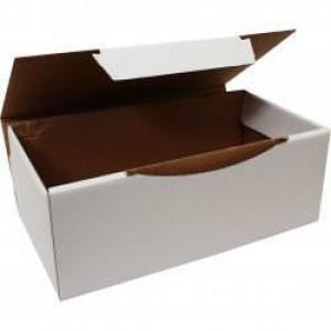 22,5x12x8cm Kilitli Beyaz Kutu